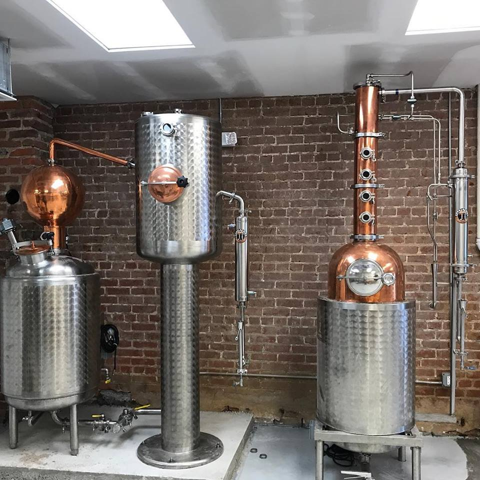 Sangfroid Distilling's two types of stills. ( Photo Credit: Sangfroid Distilling )