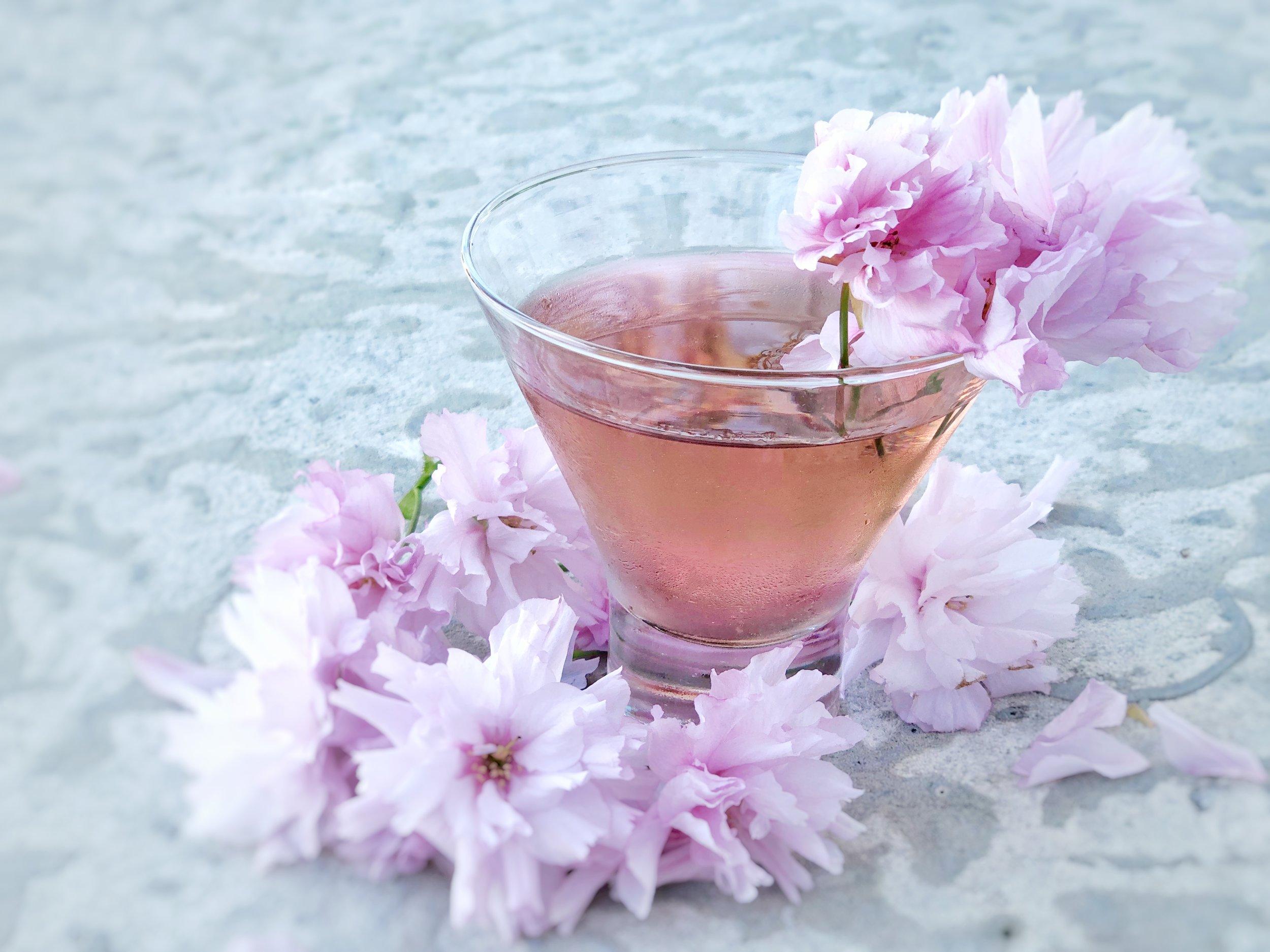 A spring-inspired sake cocktail ( Photo Credit: Lara Victoria )