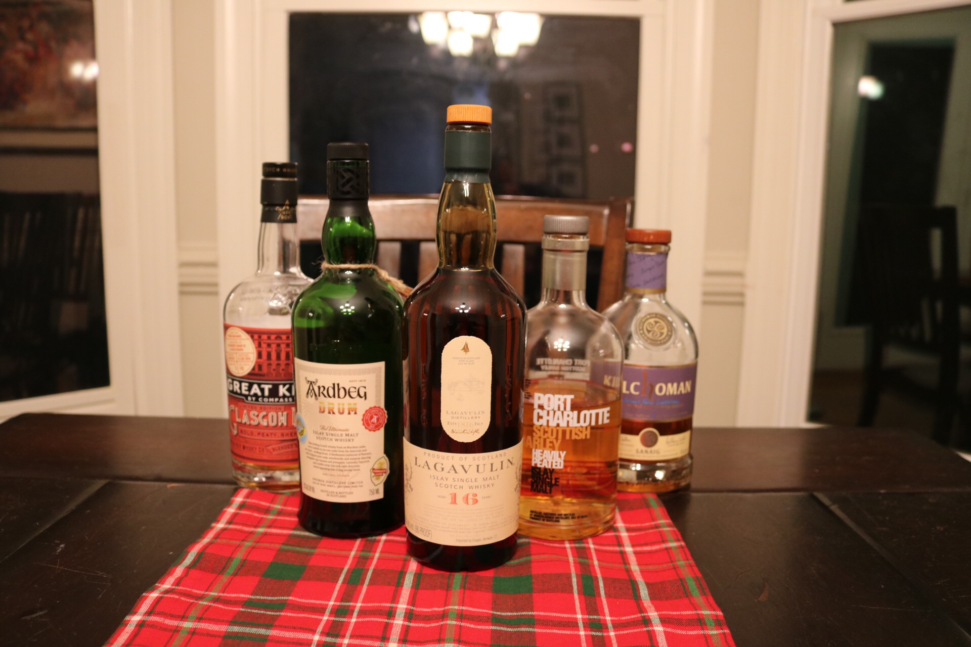 The bottles we sampled during this tasting (Not pictured: The Octomore 8.2)