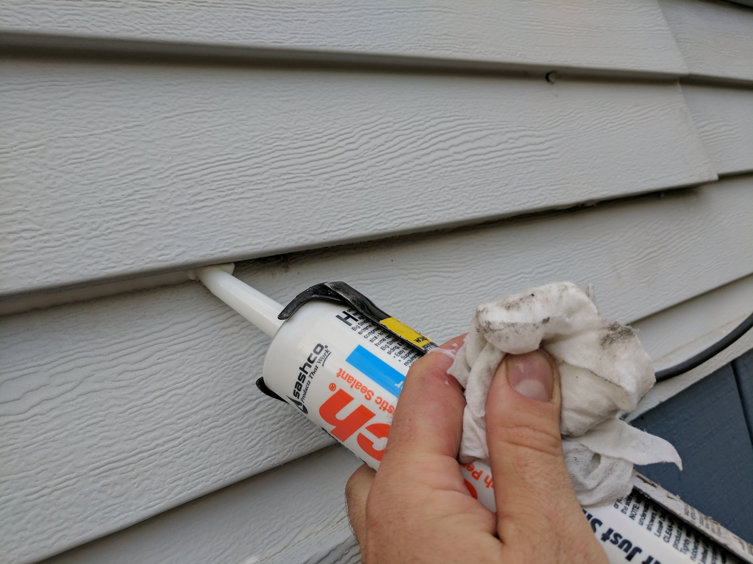 We can seal out most gaps where they bugs like to nest behind.