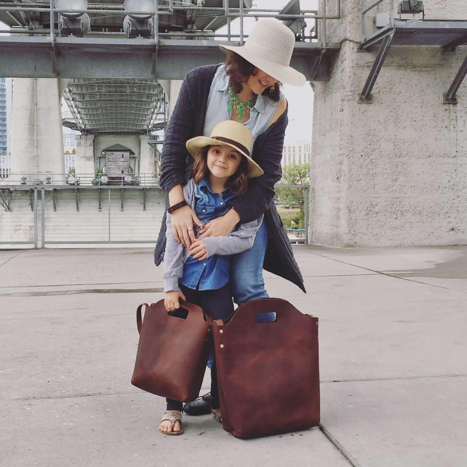 """I'll like you for always."" Mom & Me Leather Totes by  Urban Southern  