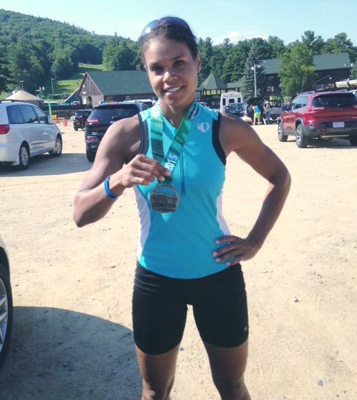 """Just completed my first half Ironman."" -KR"