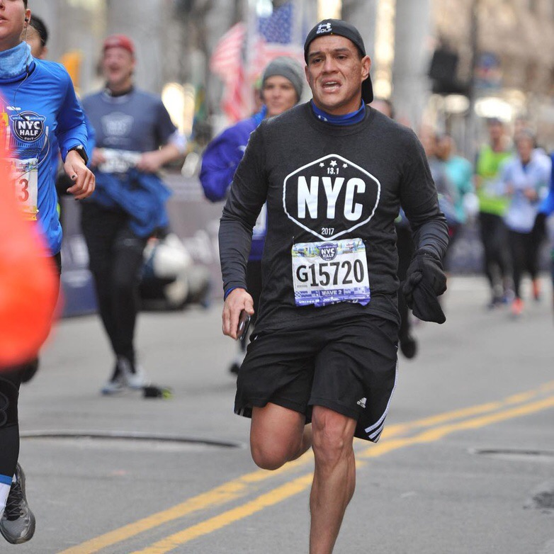 """On March 2018 as I run the NYC Half Marathon, I want to run on behalf of ""  Depression 2 Extinction  "" to help raise awareness to this illness. Today many still suffer from it and the battle is always ongoing. Any donation you can give towards this cause is greatly appreciated!"" Donations can be made   HERE  ."