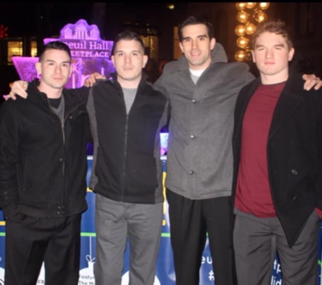 The 4 Daddario Brother's, Celebrating New Years Eve.