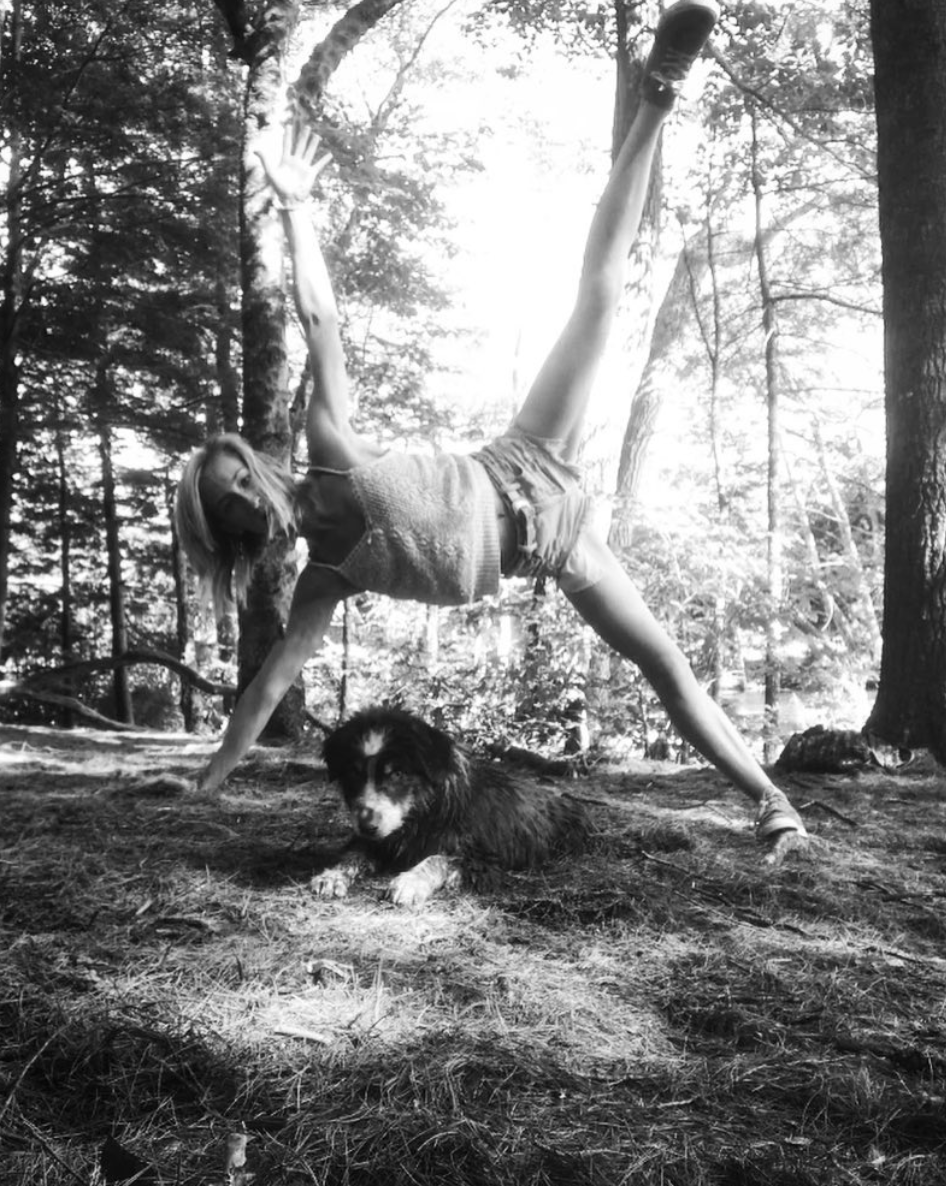 """""""A perfect day must have three things: nature, dogs & yoga. 💕"""" via  Instagram"""