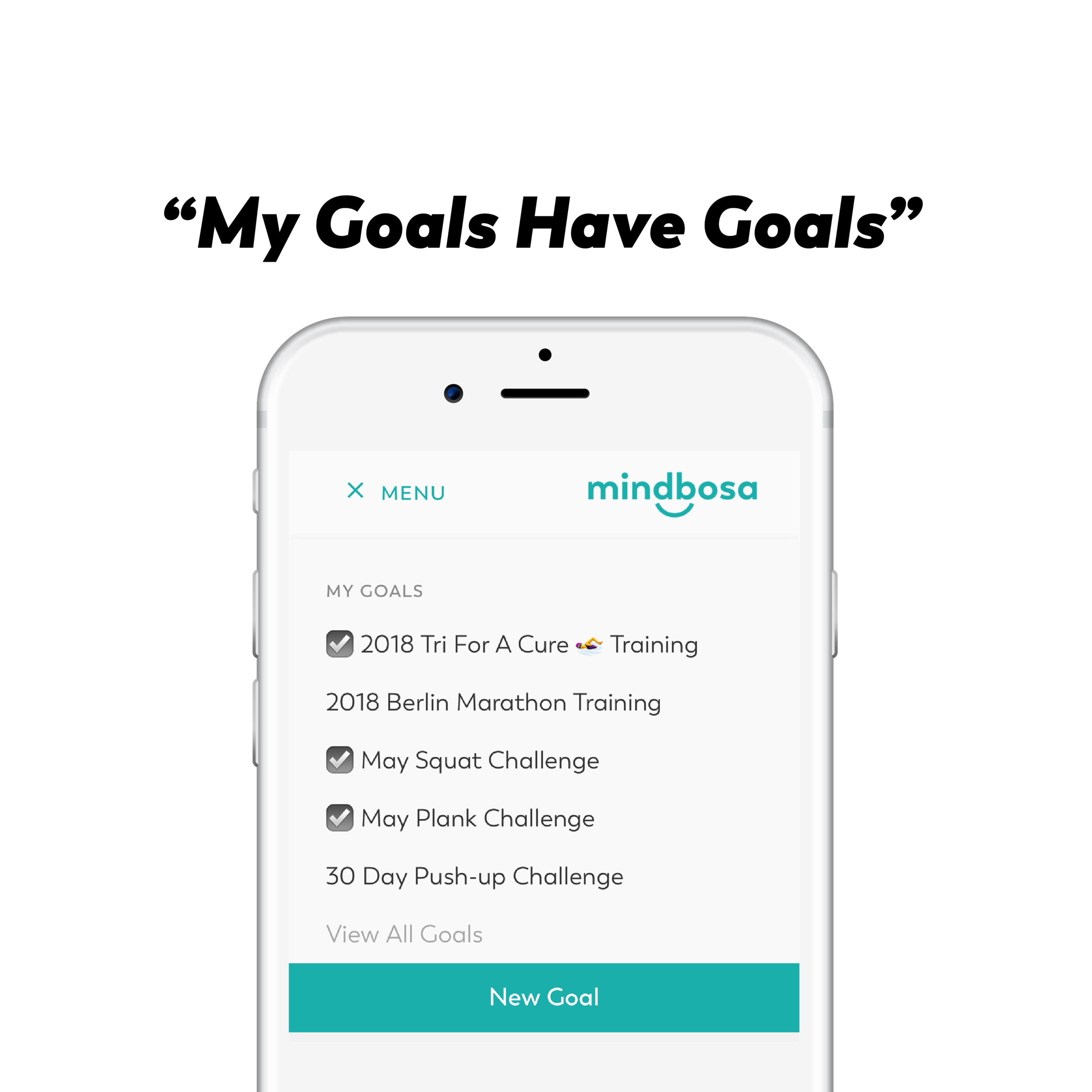 Mindbosa (Mind, Body, Save) is a new concept. We are connecting personal gain with personal growth and doing so through mindfulness. When you track goals on  our web app , you are not only consciously working towards a better self, but also building motivation and reward by saving money. This is an exercise in mindfulness. We are confident while using Mindbosa you will enhance your overall wellbeing.