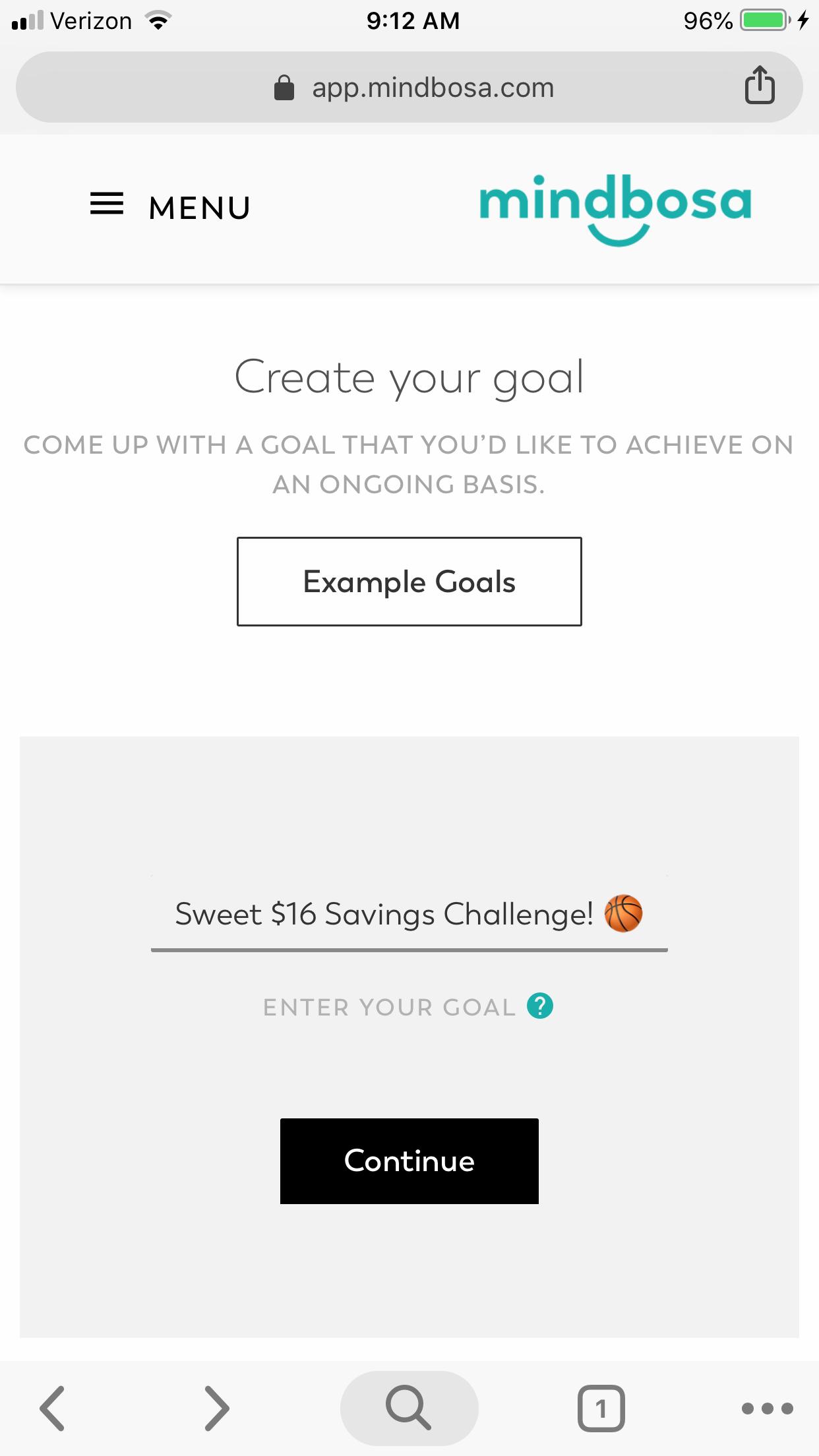 Sweet 16 Savings Challenge