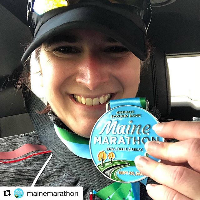 "#Repost @mainemarathon ・・・ This #MedalMonday is brought to you by our friend @bmichelle80 Who completed her first marathon with us last October!  Reposted from @bmichelle80 - ""this was a fantastic race with great people at every step of the way!! Did this with my best friend and it was an amazing experience 😊 @mindbosa helped me save money and train for this as well."" 🥳💸🥇 #mymainemarathon #mainemarathon #mainehalfmarathon #mainerelay #marathon #halfmarathon #relayrun #marathoner #motivation #halfmarathoner #relayrunner #runwithfriends #runlocal #runmaine #mainerunning #medal  #firstmarathon #savingmoney #trackinggoals #mindbosa #motivationmonday"