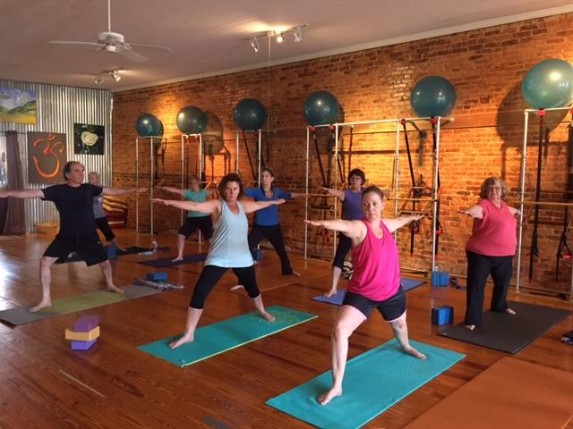 Mindful Yoga on Wednesday mornings.
