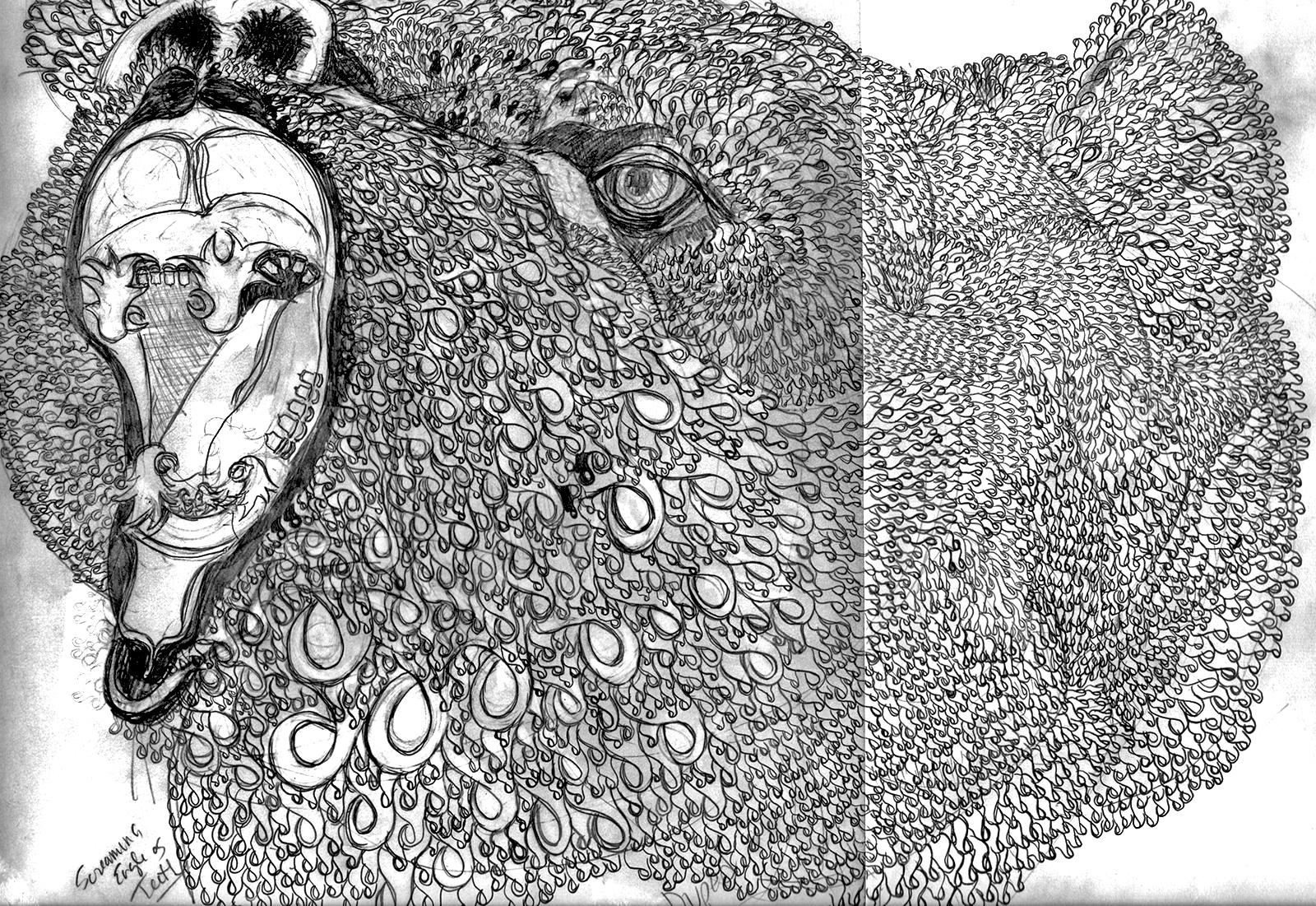Yvette M Pino-Duped, Prepatory Sketch-Yvette Pino photo-2016.jpg