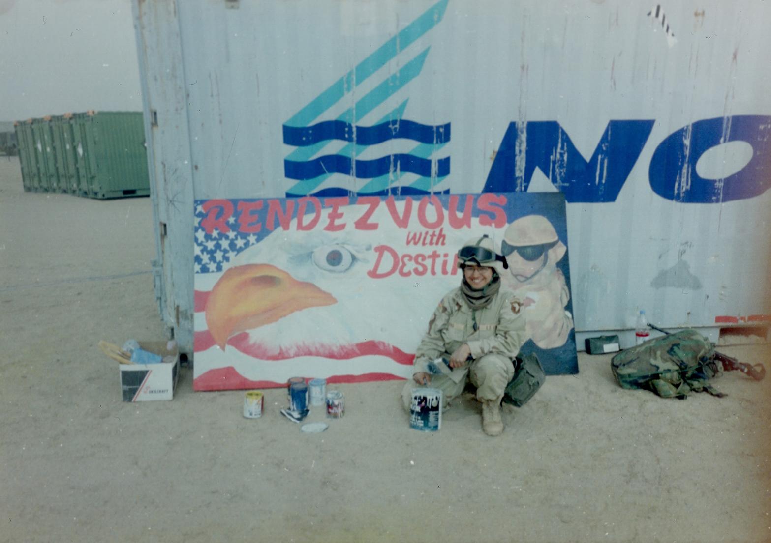 Yvette M Pino-Mural-Iraq-Yvette Pino Poto-2003.jpg