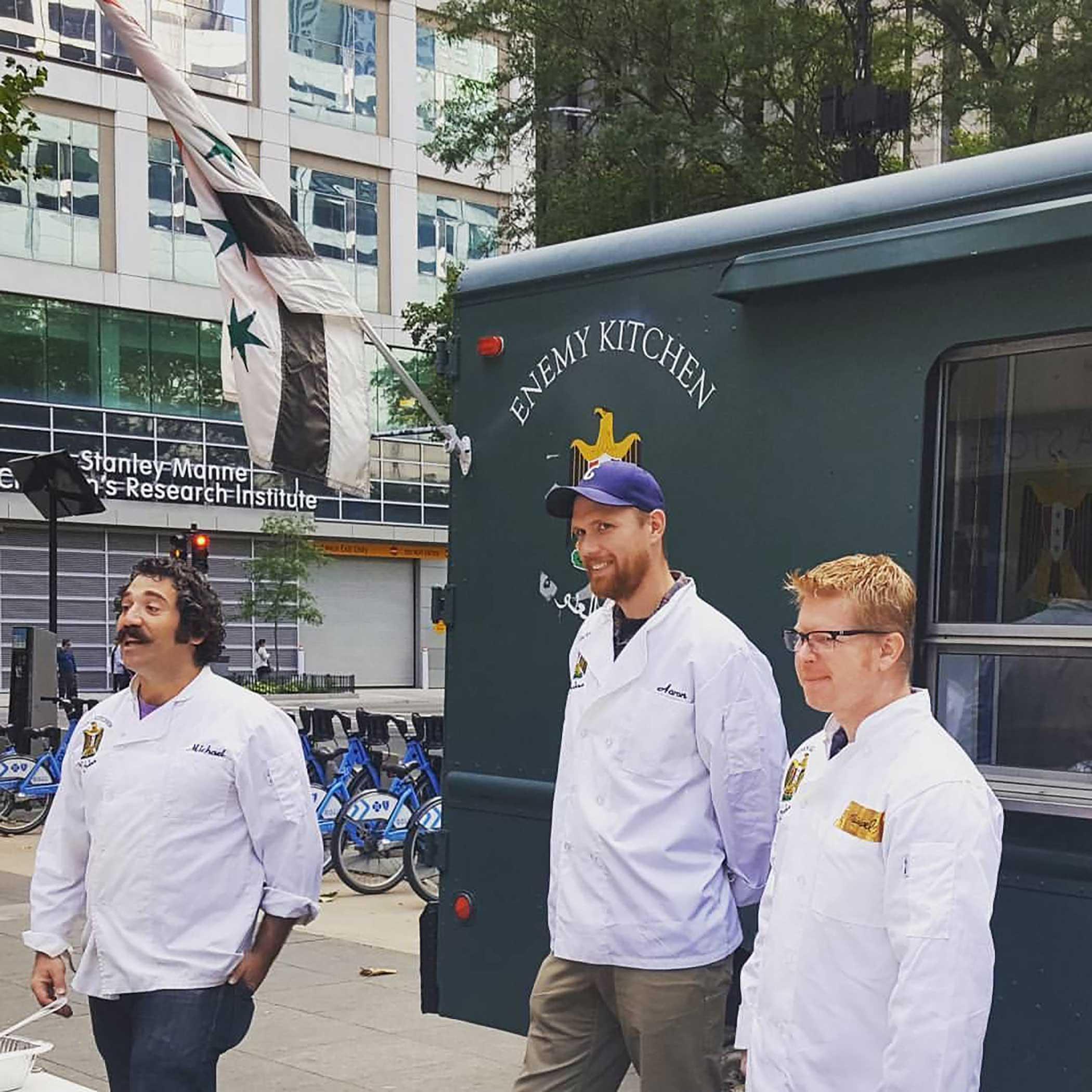 Michael Rakowitz,  Enemy Kitchen , MCA Chicago, 2017 Photo: Charity White, courtesy of the artist