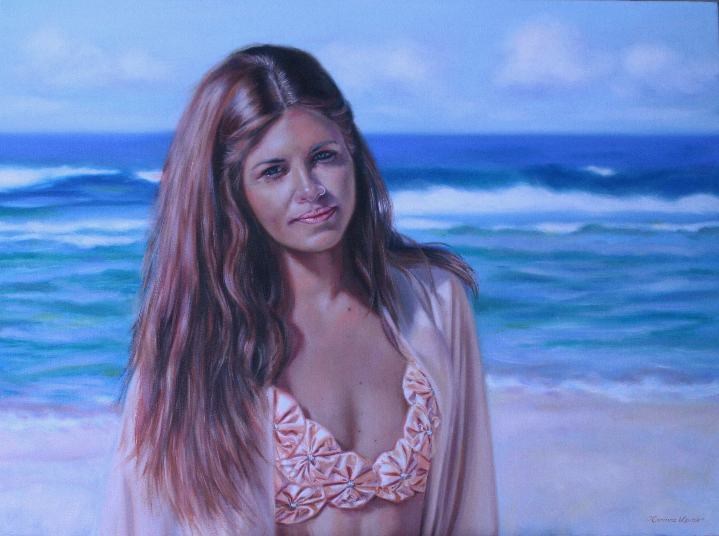 Portrait of Melody Jasmine Oil on Linen 90 x 60cm