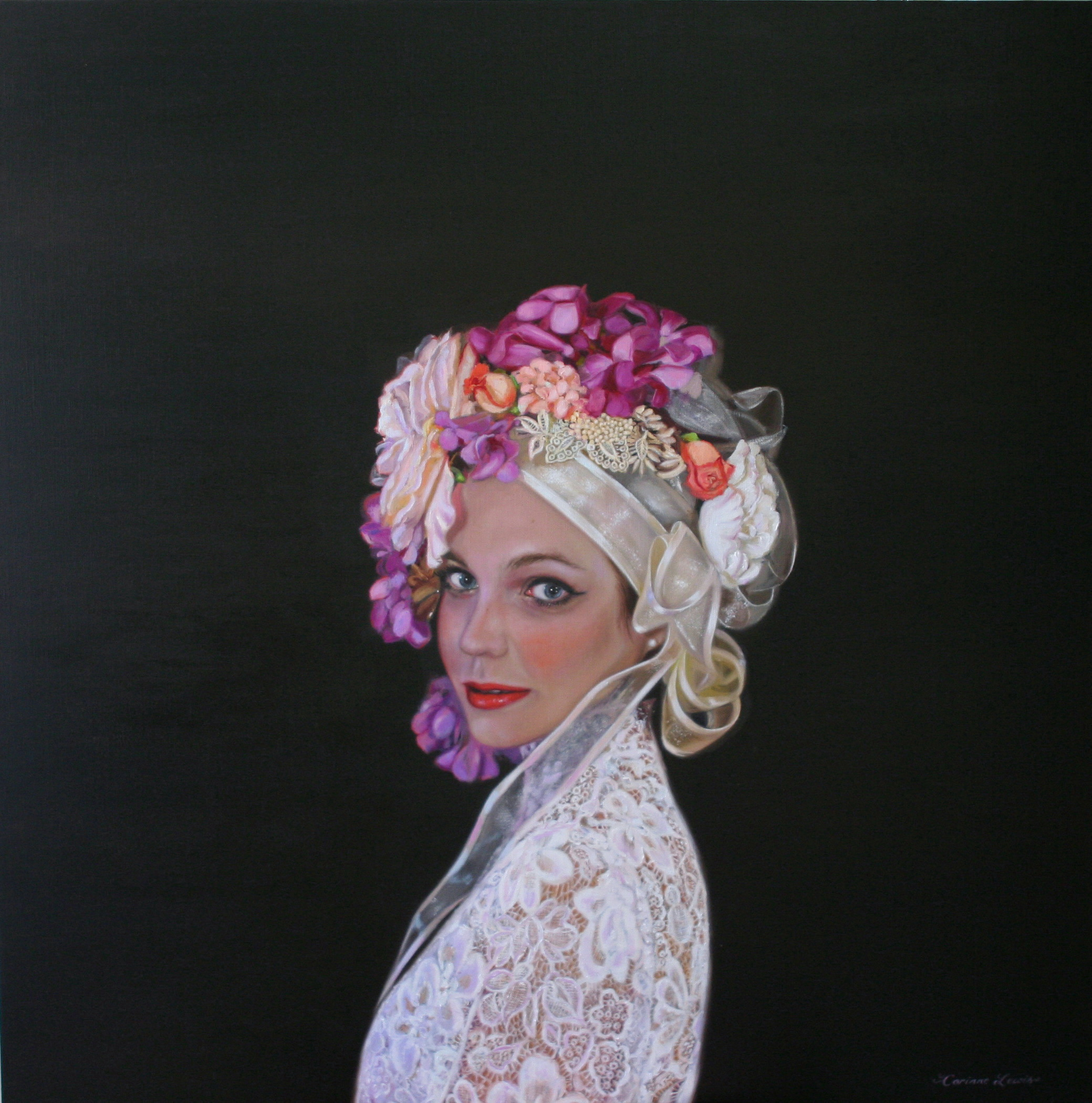 Portrait of Hannah 90 x 90cm Oil on Linen