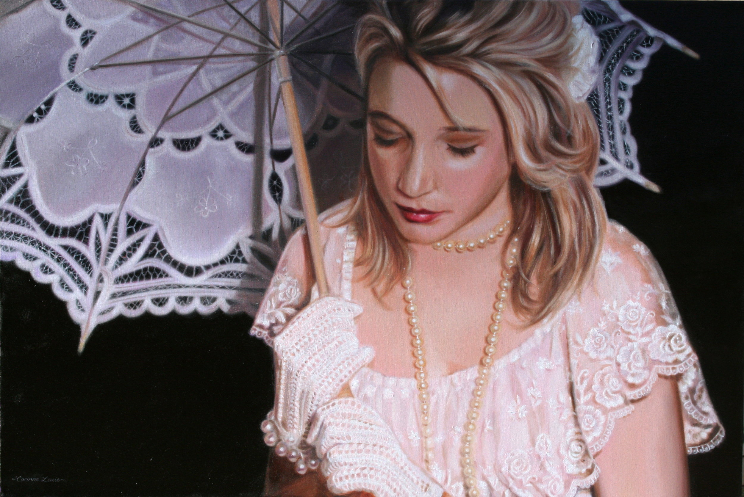 Portrait of Jessica Oil on Linen 100 x 65cm approx