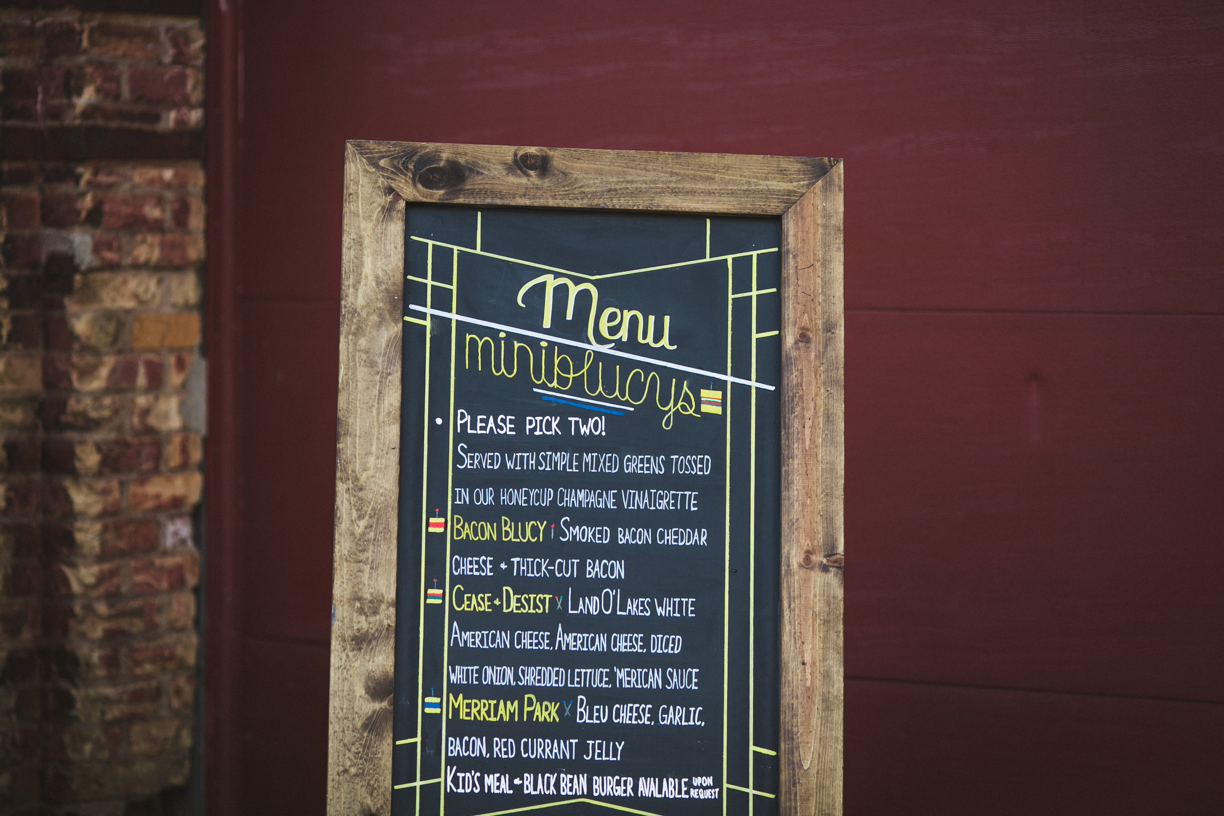 blue door incorporated our invite design (done by long-time friend Ben Wood) into the menu