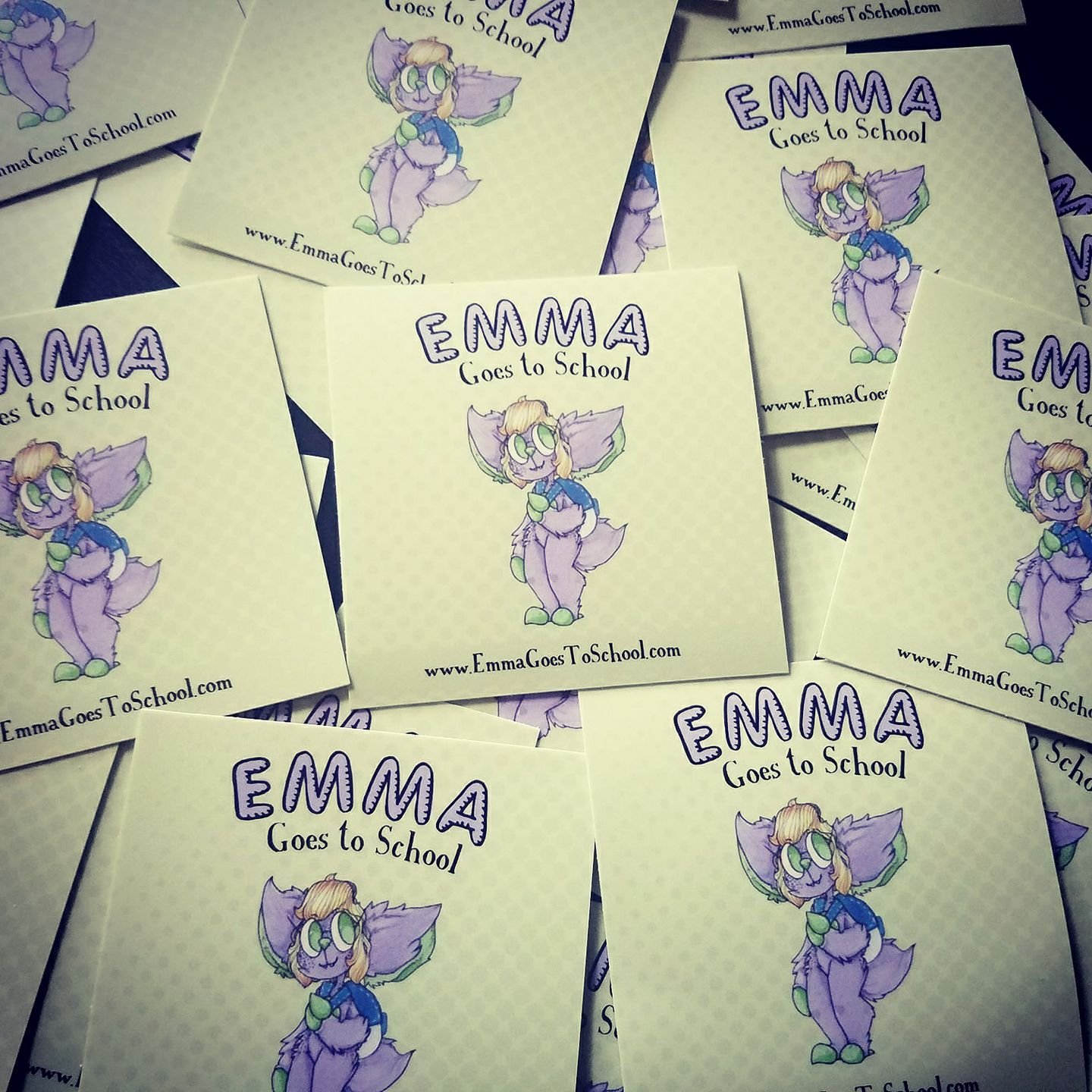 Emma Goes to School Stickers