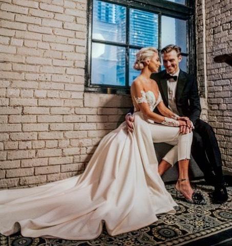Working with Alexandra on her dream dress was a dream! A confident young women who had style and grace! . . #torontobride #customweddingdress #weddingpantsuit #bridetobe #weddingdress #theknot #marthastewartweddings #stylemepretty