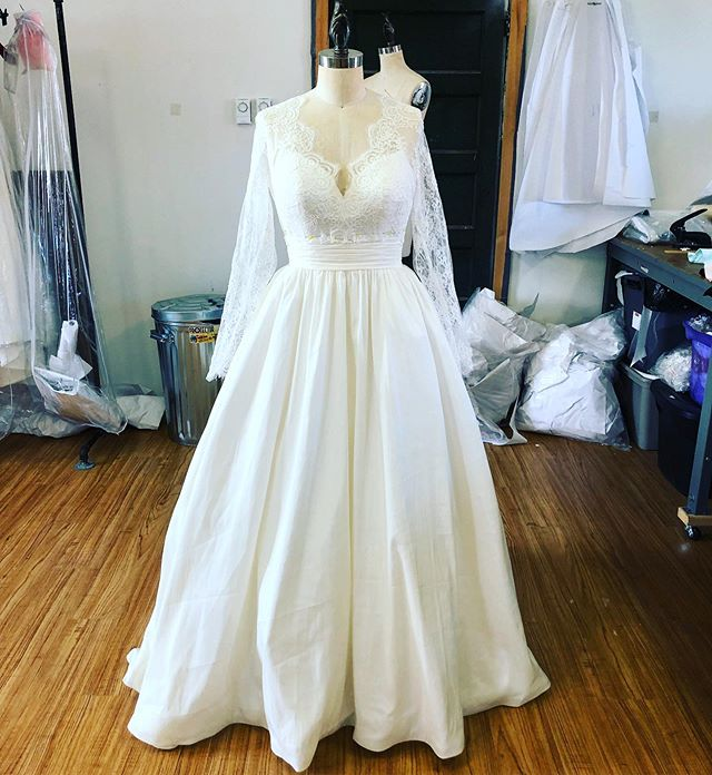 A Bolero Finishes The Dress Perfectly! . . #customweddingdress #laceweddingdress #weddingdress #bridetobe #bridalwear #ballgownweddingdress #countyup