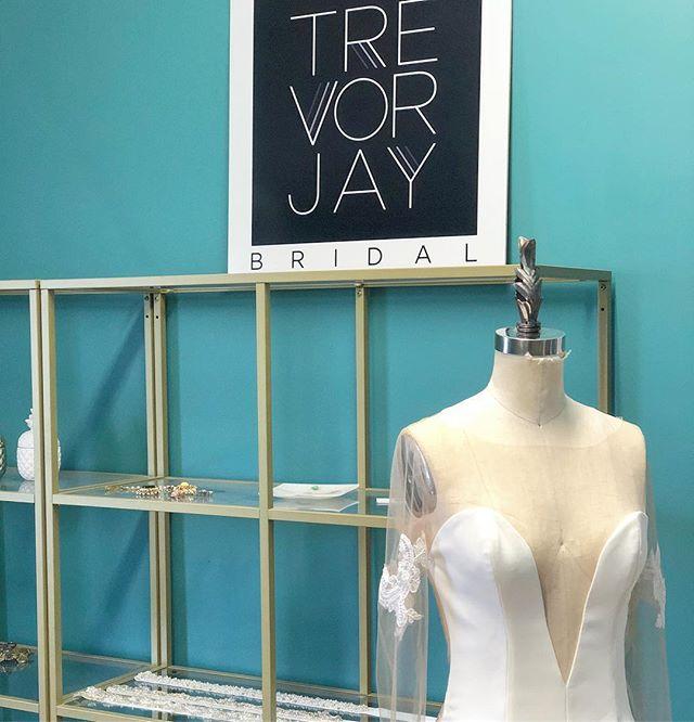 A plunging neckline for the confident Bride.  #torontobride #customweddingdress #weddingdress #theknott #marthastewartweddings #stylemepretty #bride #countyup #pecbride