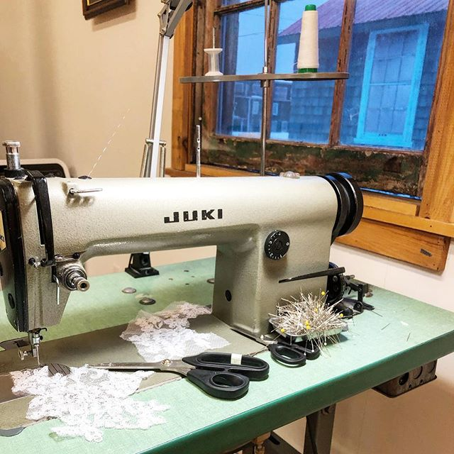 The machine that makes the magic happen! . . #customweddingdress #weddingdress #bridetobe #weddingdress #juki #countyup