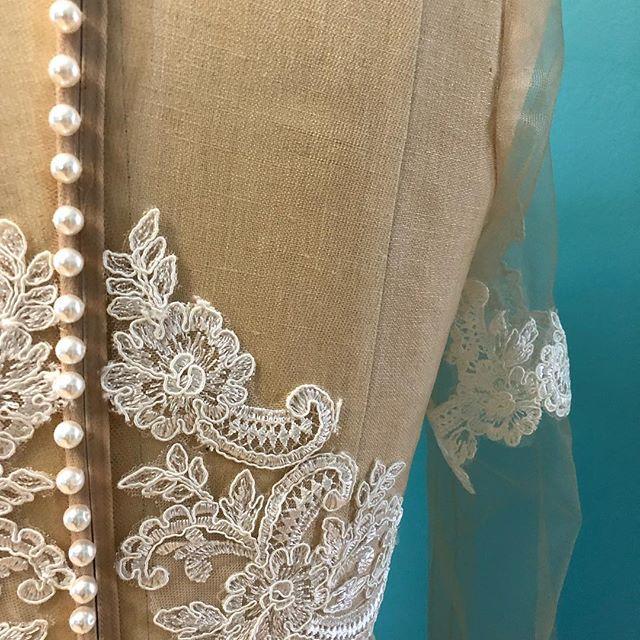 Something in the works!  #customweddingdress #weddingdress #bridetobe #torontobride #ottawabride #countyup #trevorjaybridal #laceweddingdress #princeedwardcounty