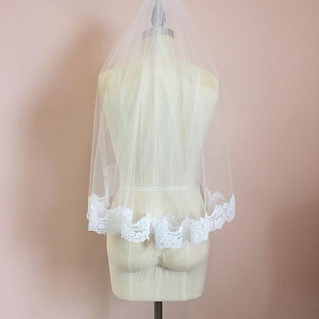 Today we make a simple classic veil for a special bride!  #customweddingdress #bridalveil #laceveil #bridetobe #pecbride #weddingdress #torontobride #ottawabride #weddingbells #wedding #countyup #princeedwardcounty