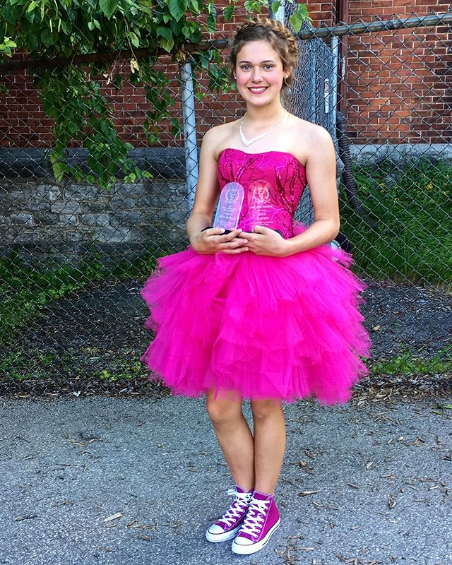 We had the pleasure of making this grade 8 grads day special!  Sometimes we do other things then wedding dresses! . . . #customdress #graddress #prom #promdress #countyup #princeedwardcounty #custompromdress