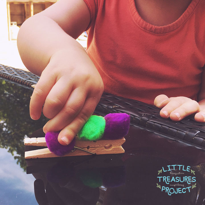 Little Treasures Project - Tot Craft | Fuzzy Wuzzy Caterpillar Clips