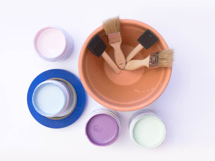 Tot Craft   Pretty Painted Flower Pots   Little Treasures Project