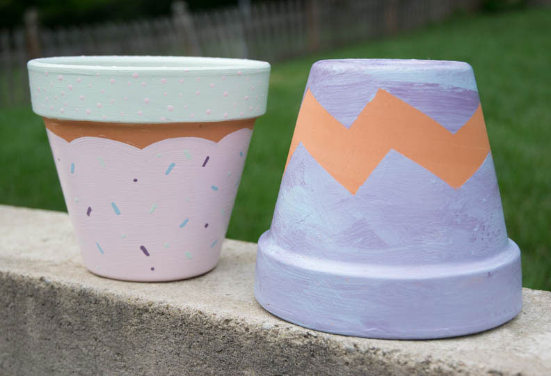 Tot Craft | Pretty Painted Flower Pots | Little Treasures Project
