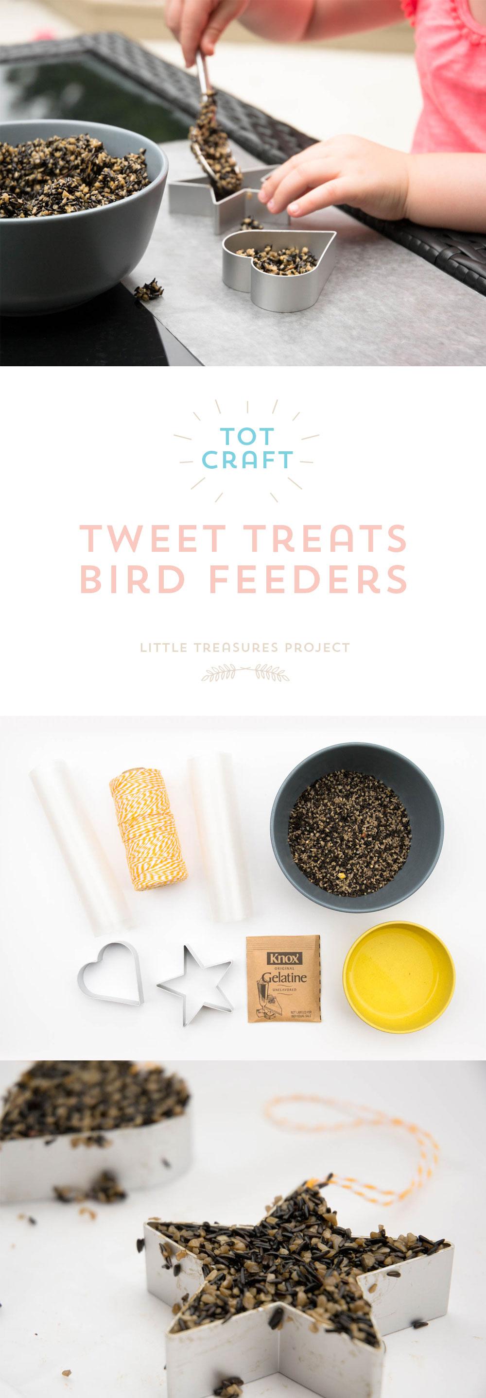 Tot Craft | Tweet Treats Bird Feeders | Little Treasures Project