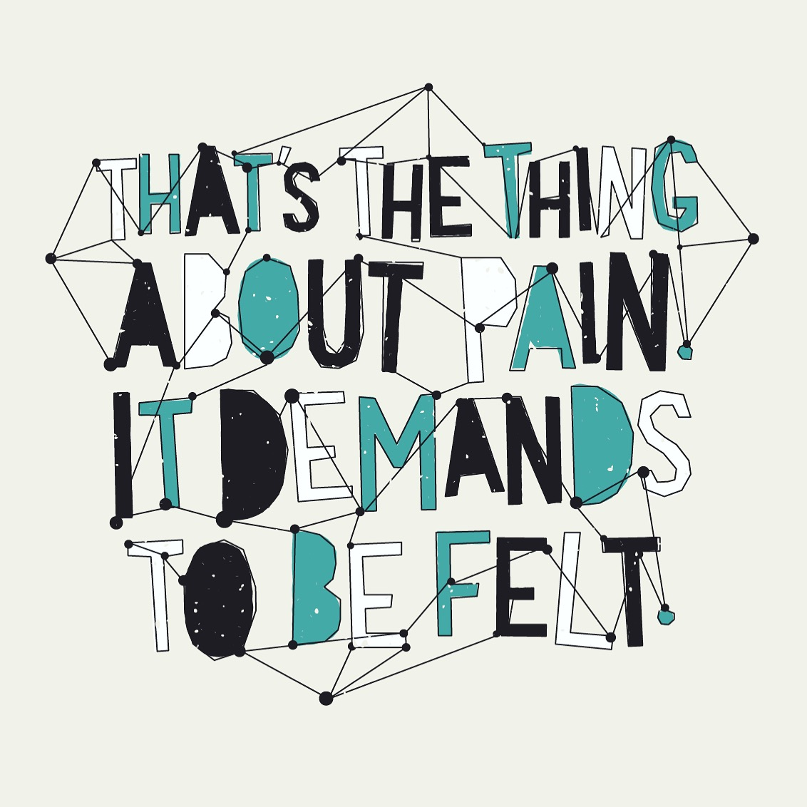 "Illustration by unknown. Quote from  ""   The Fault In Our Stars   ""  by John Green."