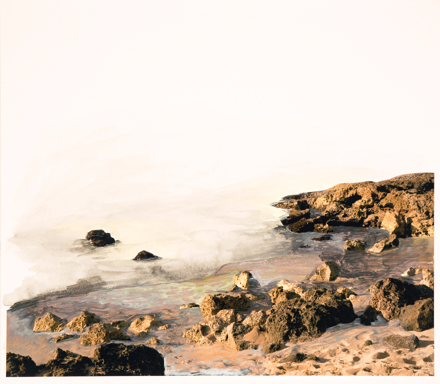 Low Tide, 2016  18 x 20-3/4 inches  Acrylic and C-print on paper