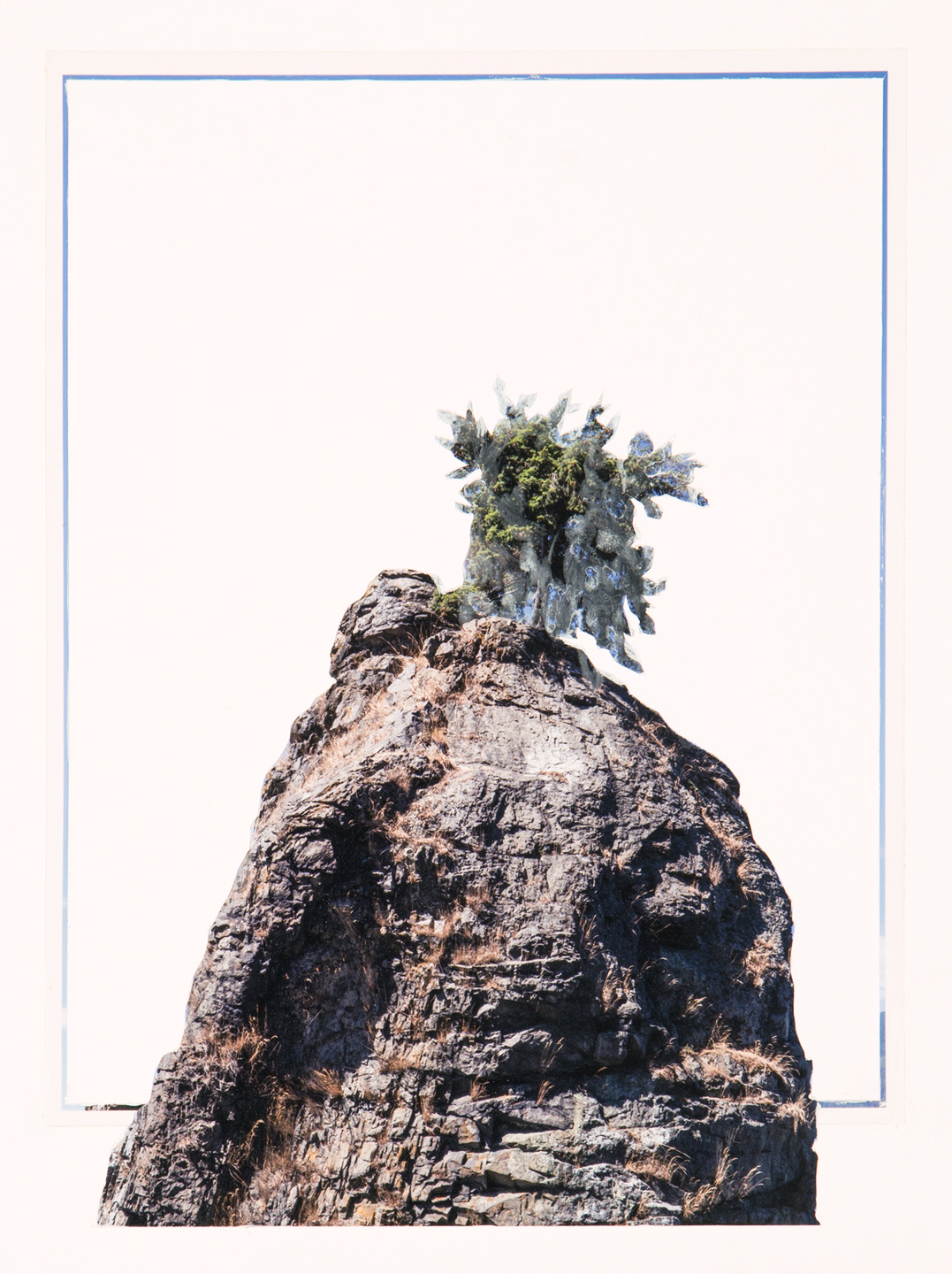 Pineapple Rock, 2017  12 x 9 inches  Acrylic and C-print on paper