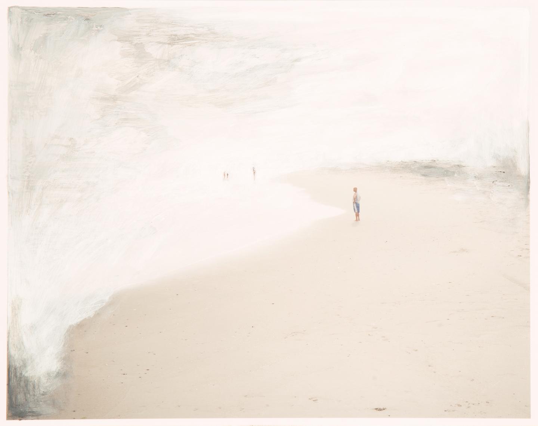 Coastline, 2017  11 x 14 inches  Acrylic on C-print