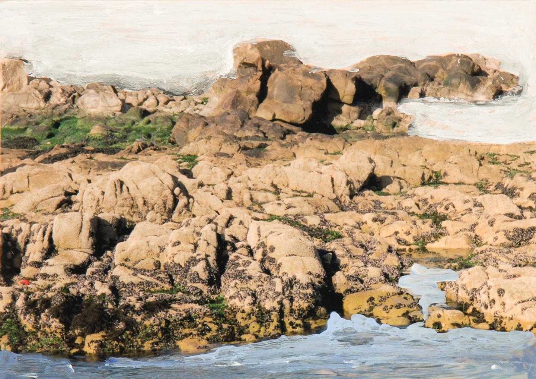 Sea Shore, 2015  5 x 7 inches  Acrylic on C-print