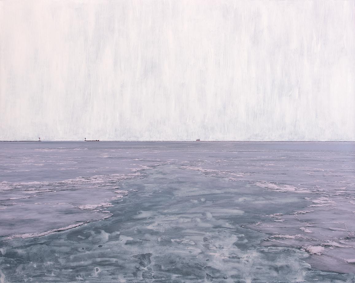 Chicago Ice, 2019  24 x 30 inches  Acrylic on C-print