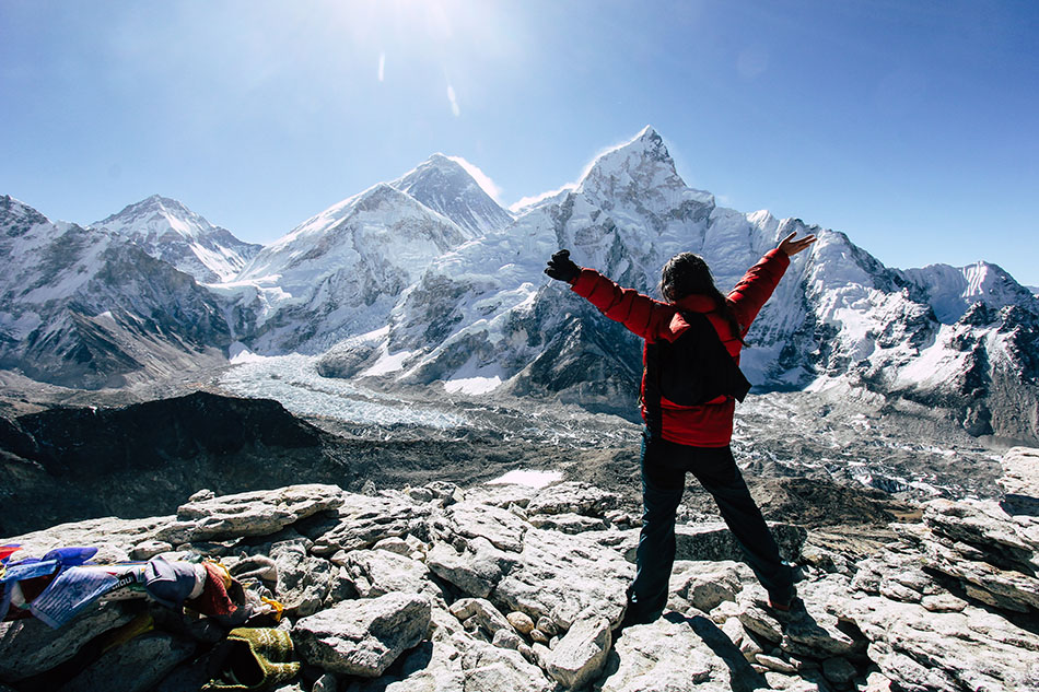 View of Everest on top of Kalapathar