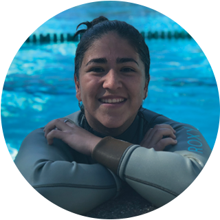 Coach Tiani , Instructor  I have been swimming since I was 4 and haven't stopped since. I started with lessons and swam competitively in middle school. I played water polo and swam at Tesoro High School and am currently on the Nadadores Masters Team. In my free time I like to listen to music, go to the beach, and go hammocking. I've coach for the Nadadores Swim Team, Summer Junior Teams and have enjoy teaching lessons with the Nadadores Swim School.