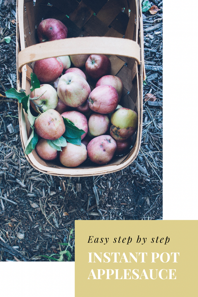 Easy step by step Instant Pot Applesauce