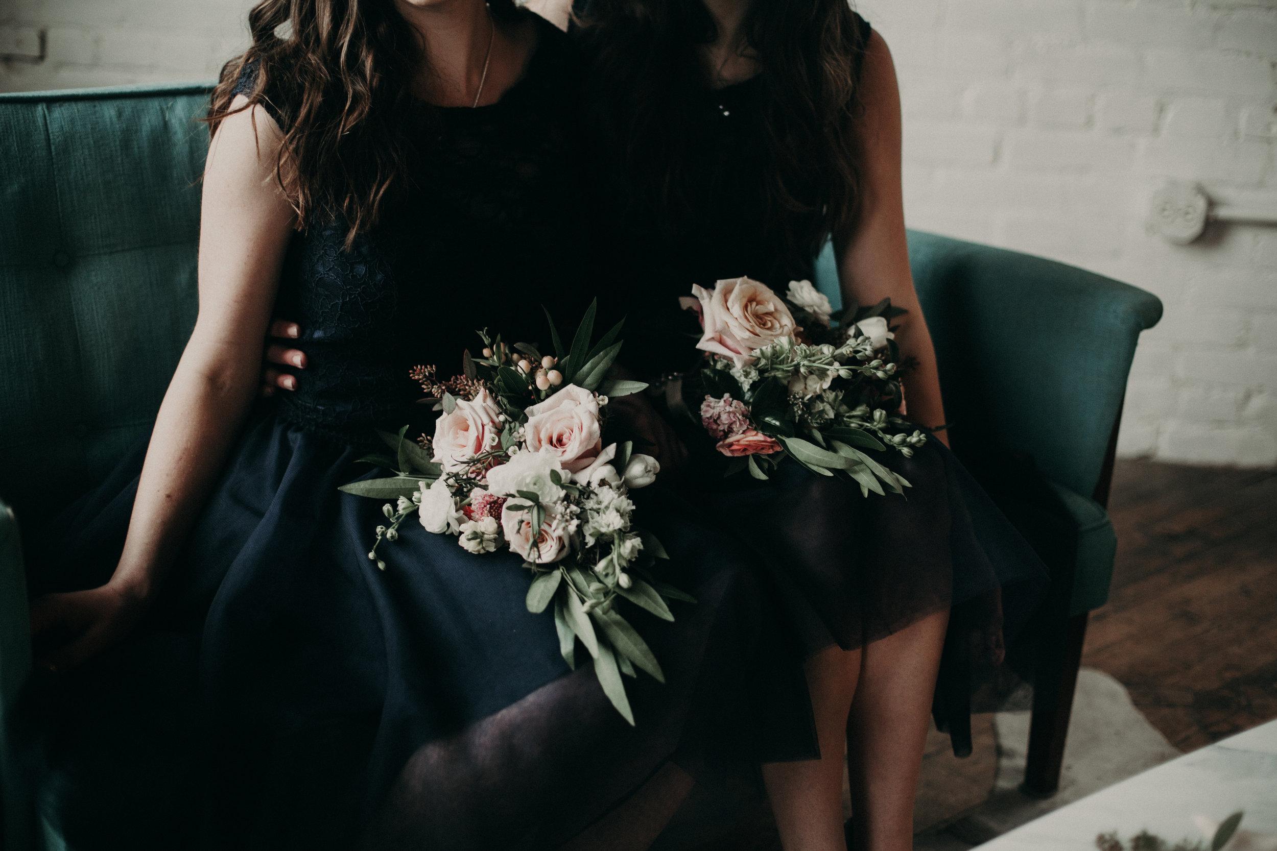 warehouse bridal styled shoot