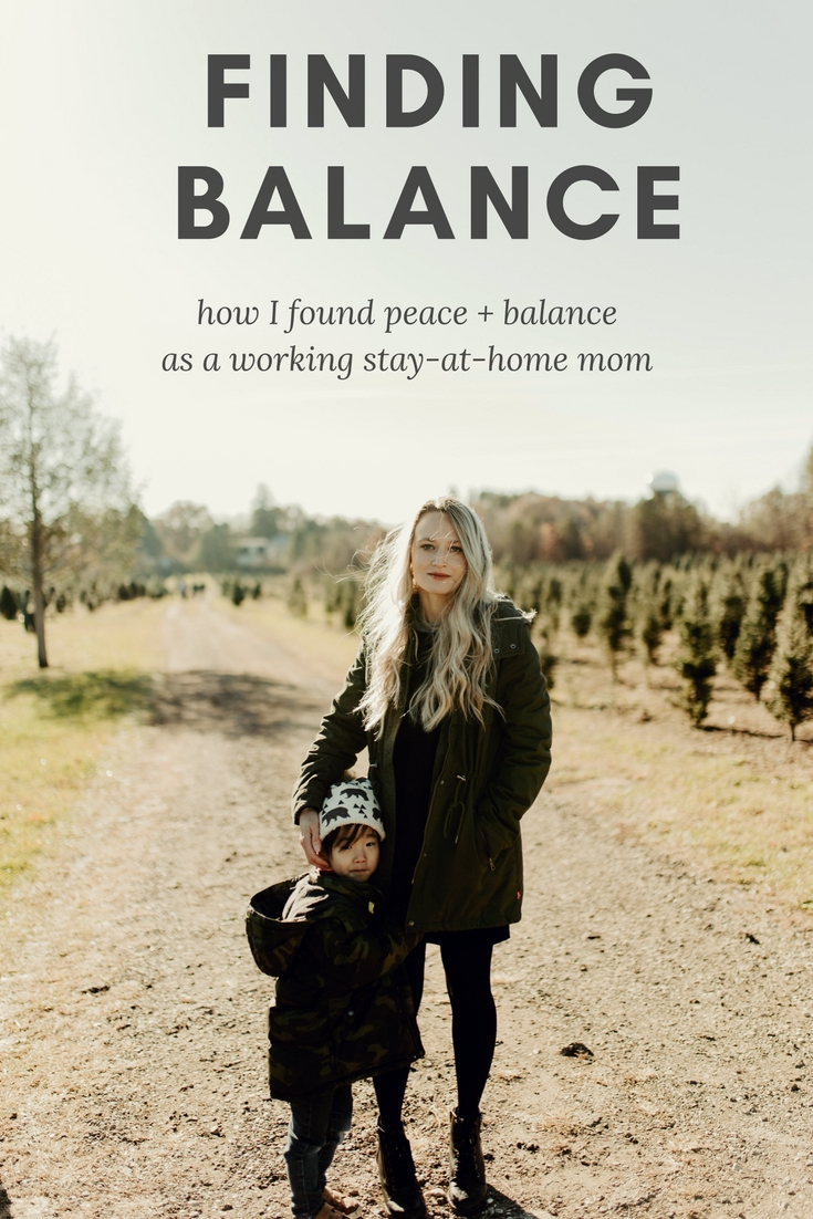 Finding peace and balance as a working stay-at-home mom