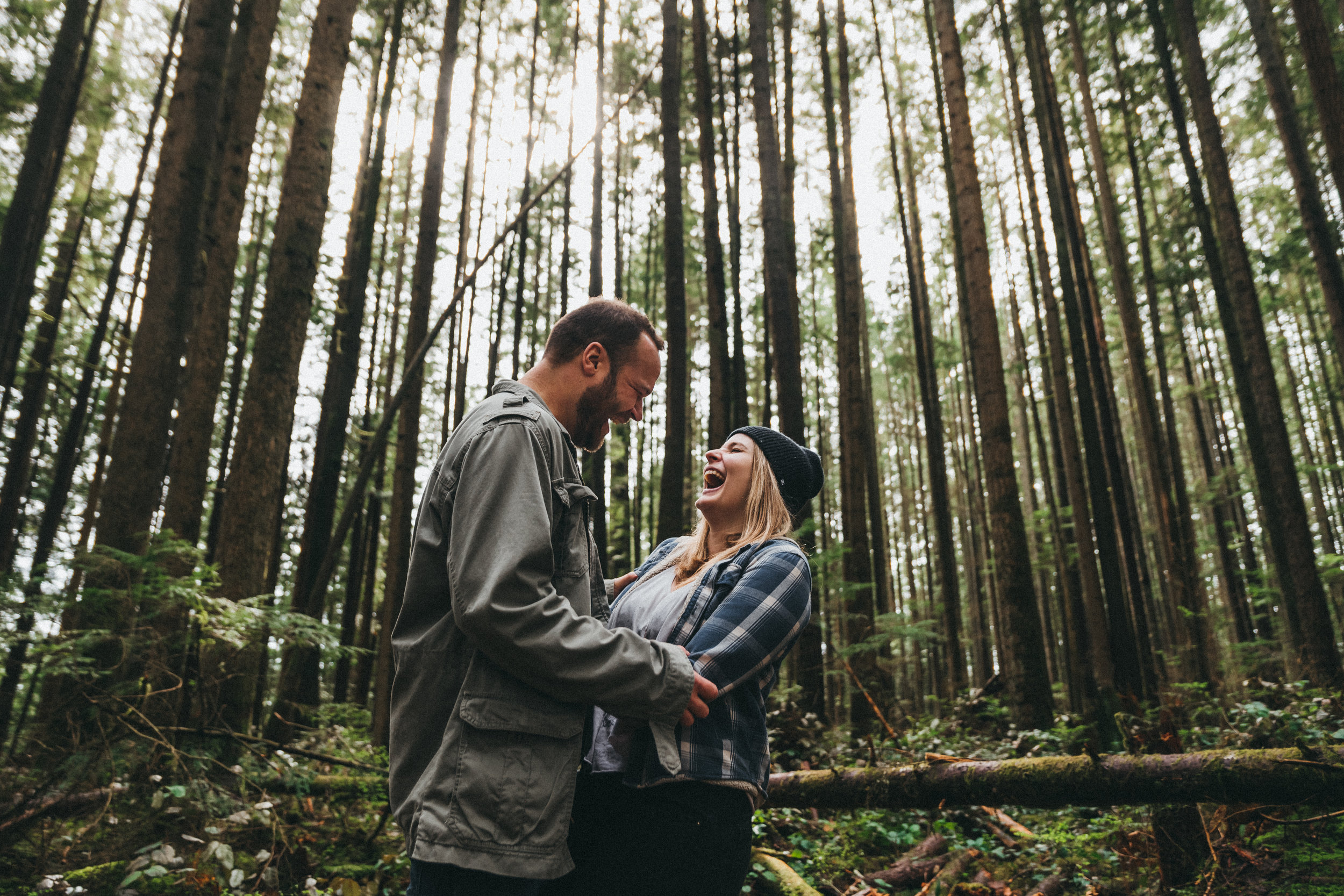 Jody & brendan - An engagement session in the lush forests of North Vancouver, plus a giant waterfall