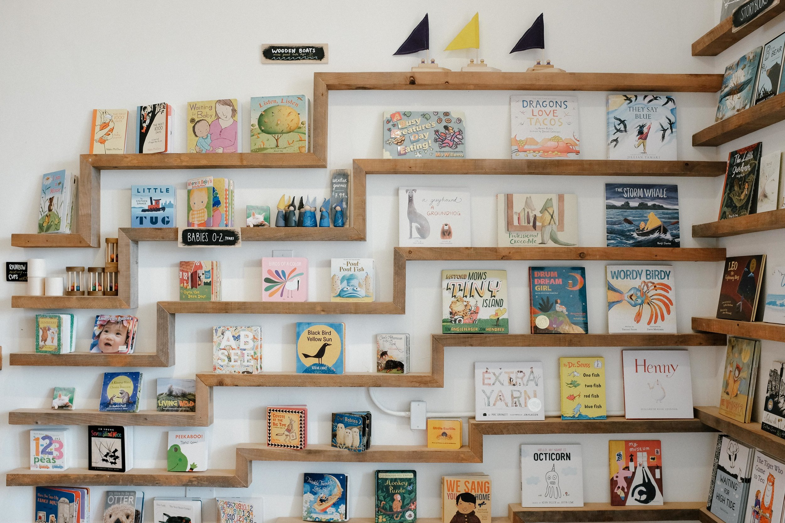in-store shelving and front counter by luke bartels at  woodshop