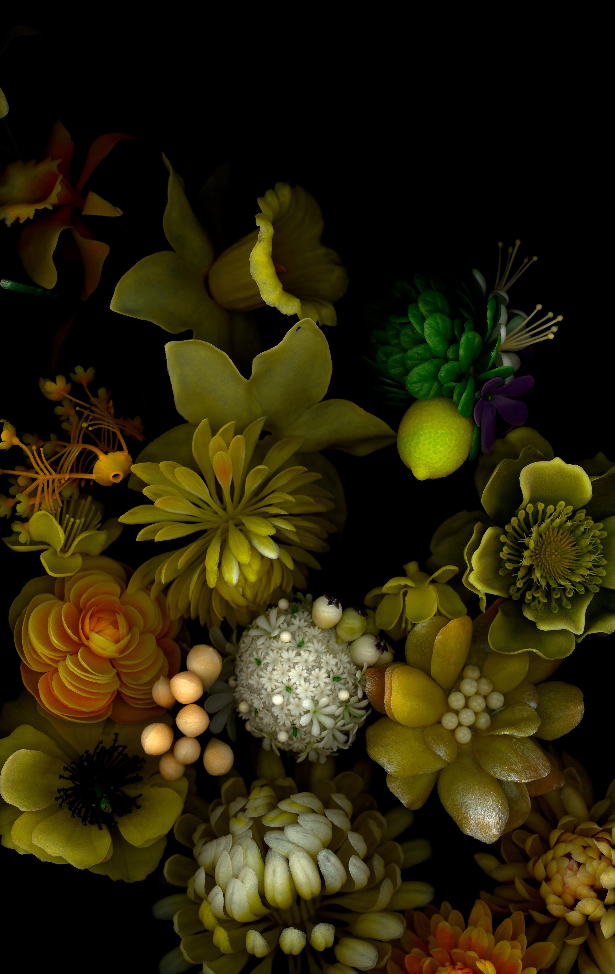 "yellows, bioposy #1,digital c print, 2007, 42"" x 67"""