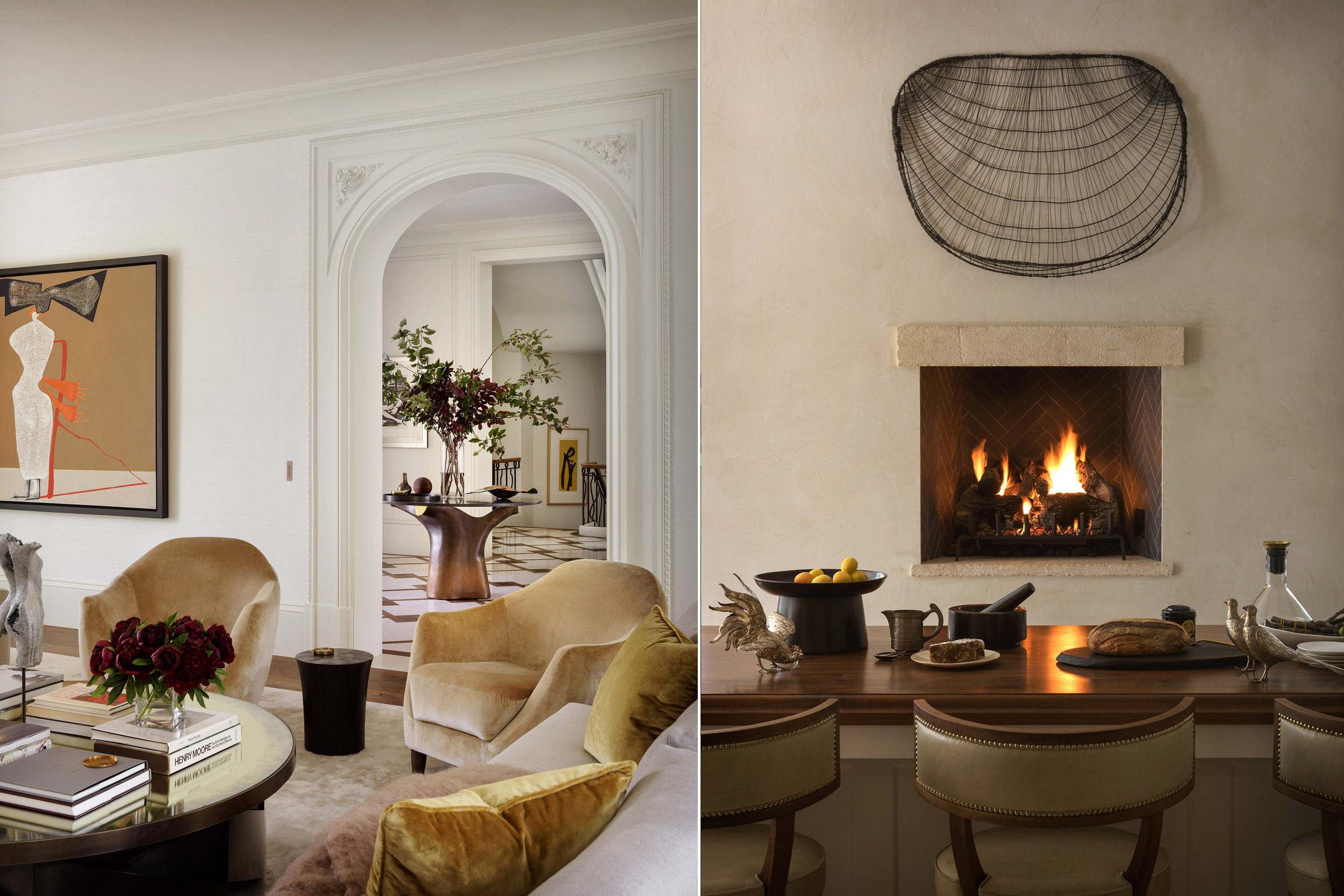 Both images, designer: Handel Architects, photo: Aaron Leitz, stylist: Yedda Morrison