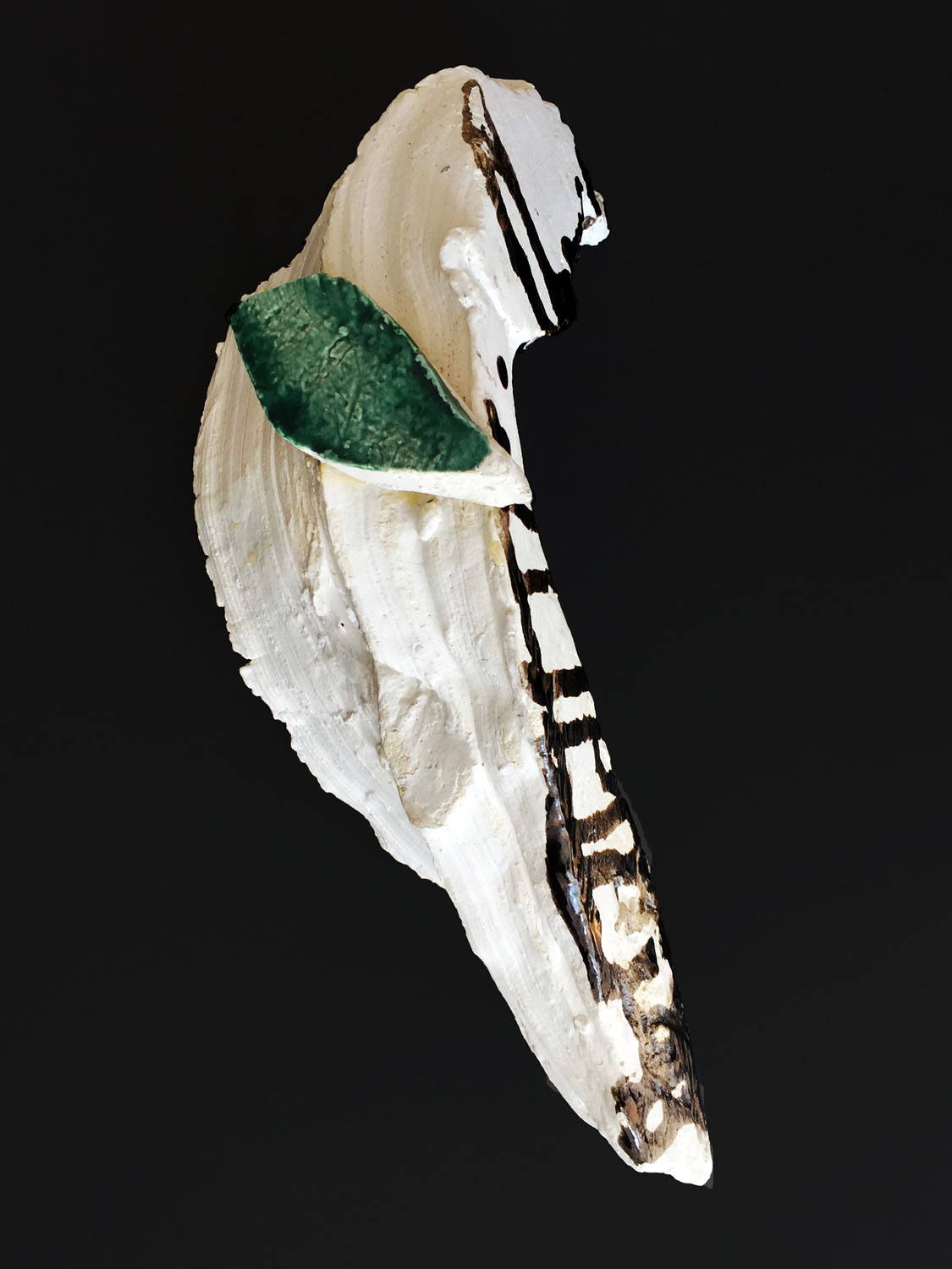 Jonathan Livingston Seagull has a Different Meaning Every Time , 2010, glazed ceramic, 5 x 5.5 x 11.5 inches