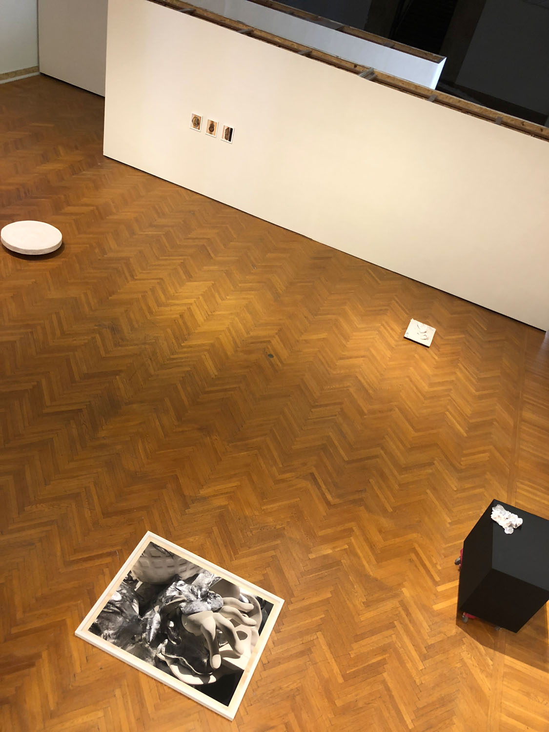 Into The Matter , exhibition view from lift, 2018, Mills College Art Museum