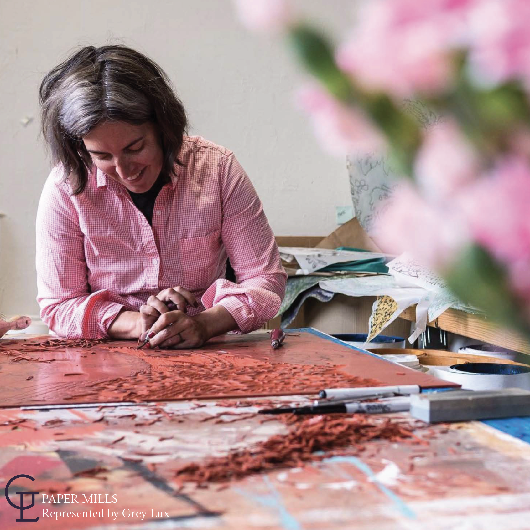 - Local Grass Valley artist and wallpaper designer, Amy Mills, offers a custom wallpaper product that can be tailored to meet any project needs.Each pattern from Paper Mills expansive wallpaper collection can be Benjamin Moore / Pantone color and sheen specified.Amy also offers and encourages bespoke custom wallpaper collaborations; perfect to replace a discontinued favorite, or to create a personalized go-to for your library.